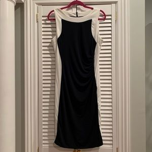 Shelby and Palmer Ruched Dress 🖤⚪️🖤